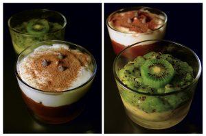 Verrines kiwi et chocolat