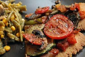 Pizza végétalienne et sans gluten